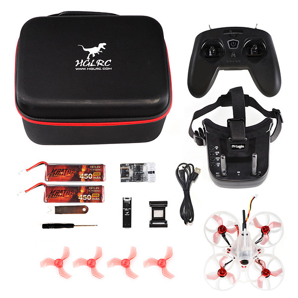 HGLRC Petrel 75 BWhoop 1S 2S RTF 360 Degree Protection Brushless Motor 75mm RC Tinywhoop FPV Drone VR009 Goggles for beginners
