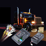 Upgraded G.T.Power Container Truck Lighting & Voice Vibration System Pro 60A w/APP Control Function Vibration Motor for RC Truck