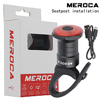 MEROCA Battery Life Version Smart Sensor Brake Tail Light Bicycle  USB Charging For Road Mountain Bike Night Riding Warning