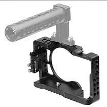Aluminum Camera Cage Frame Video Film Rig with 1/4 3/8 Screw Hole Cold Shoe Mount for Sony A6500 A6400 A6300 A6000 SLR Accessory