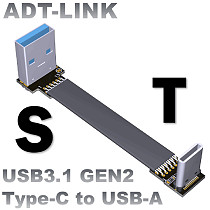 USB 3.0 Type-A Male to USB3.1 Type-C Male Up/Down Angle USB Data Sync Cable type c Cord Connector adapter FPC FPV Flat