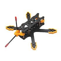 JMT GX140 Mini Alien - 3 Inch 140mm Carbon Fiber FPV Frame Kit 4mm Arm with Print Accessories for FPV Racing Drones Freestyle DIY