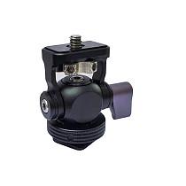 BGNING Mini Ball Head 360 Hot Shoe Mount Panoramic Monitor Bracket Camera Gimbal 1/4 Inch Cold Shoe Adapter for Tripod Light Flash Bracket