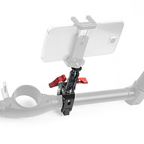 BGNING Aluminum DSLR Camera Magic Arm Dual 1/4  Ball Head Mount Handlebar Super Clamp for Hotshoe Monitor Tripod Rig for Canon Nikon