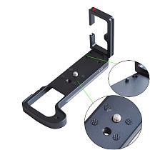 BGNing Aluminum Alloy SLR Camera L-type Quick Release Plate for Fuji X-H1 L Bracket Vertical Shoot QR Board for Fujifilm XH1 Hand Grip