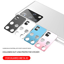 FCLUO Rear Camera Lens Metal Case Tempered Glass Protector for Huawei Mate X2