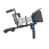 SLR Camera Cage for Sony Shoulder Stabilizer Rail Bar Tracking Focus Support System for Canon Nikon DSLR DV