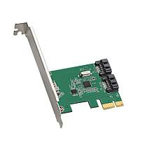 DIEWU ASM1061 Chip PCIe 2.0 x1 to 2 Port SATA3.0 Riser Card SATA III to PCI-E Adapter SATA3 6GBPS Expansion Card Converter Card