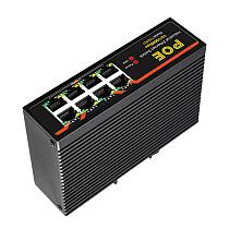 DIEWU-TXE003 8-Port Fast Ethernet Switch, 10 / 100Mbps POE Network Switch, DIN Rail Type Network Adapter, RJ45
