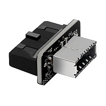 XT-XINTE USB 3.0 Internal Header to USB 3.1/3.2 Type C Front Type E Adapter 20pin to 19pin Converter for PC Motherboard Connector Riser