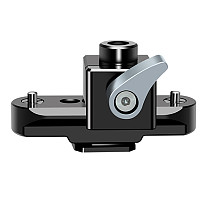 FEICHAO Universal Camera Standard Single 15mm Rod Clamp With NATO Safety Rail &1/4 -20 Screws Mount For DSLRs GH5 / Emos100/ 5DMarkIII