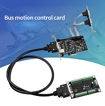 DIEWU EtherCAT Bus Motion Control Card 100Mbps Universal PCI-E Master Card with 1x RJ45 Dual RS232 Serial Ports Adapter Expansion Card