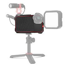 FCLUO Mobile Cage Rig Video Frame Case Cold Shoe Mount CNC for iPhone 12 Pro Max Smartphone Vlog Filmmaking Stabilizer Expansion Kit