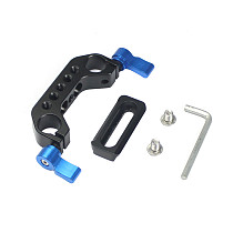 FEICHAO 15mm Rail Dual Rod Clamp Kit with 48mm Quick Release Camera Rail Slider for Handle Clamp DSLR Camera Cage