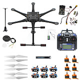 FEICHAO DIY 550 six-Axle FPV Drone Frame 920KV Motor GPS w/ 2-Axle Brushless Gimbal AT10II 2.4G 10CH Radio Transmitter APM2.8 Copter