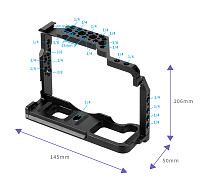 FEICHAO DSLR Camera Cage Protective Case Rig Frame Kit for Fujifilm XT3 XT2 SLR with Top Handle Grip Cold Shoe Dovetail Rail Slide Mount