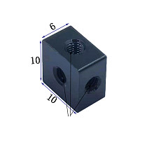 XT-XINTE 2x Aluminum 6-sided M3 Screw Holes Nut 6-hole Locking Connection Block for SLR Cameras Photo Foot Spikes Thumb Screw Chassis