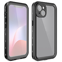 FCLUO Luxury Shockproof Waterproof Case For iphone 13 Pro Max Shell for iphone13 Mini 13pro Hard Frame Silicon Transparent Back Cover