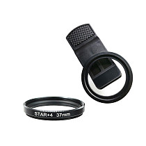 FEICHAO 37MM Mobile Phone Filter Clip Large Hole Metal Thread Wide-Angle Mobile Phone Lens Clip With 4-Line Star Light /UV /CPL Filter