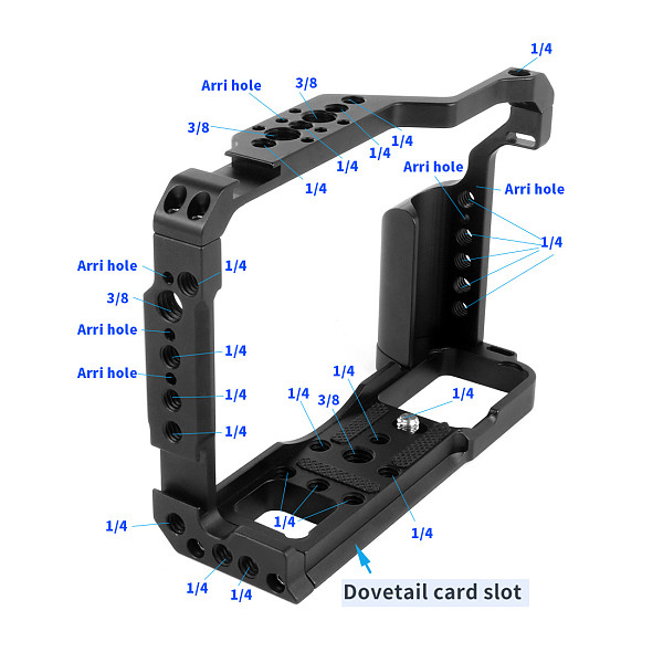 BGNING Camera Cage Rig Handle Grip Top Hot Shoe Mount for DSLR Fujifilm XT-20 XT-30 Fuji XT20 XT30 Stabilizer Form-Fit Protective Frame
