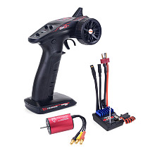 Surpass Hobby RC 2.4G CH2 Transmitter /w Receiver + Waterproof  2240 2435 2440 2845  Brushless Motor +2 in 1 Esc Comb Set for RC Car Boat