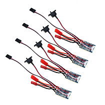 4PCS RC 10A Brushed ESC Two Way Motor Speed Controller No Brake For 1/16 1/18 1/24 Car Boat Tank