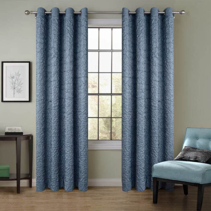 Chadmade Versus Solid Wrinkle Double, Antique Bronze Grommet Curtains