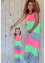 Mother And Daughter Summer dress