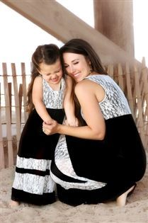 New Family Style Mother and Daughter Matching Clothes Long Boho Beach Dresses