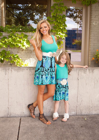 summer maxi dress women and children maxi dress matching mother daughter