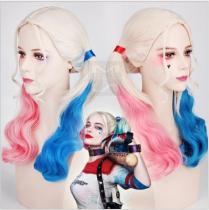 Quin pink blue  wig