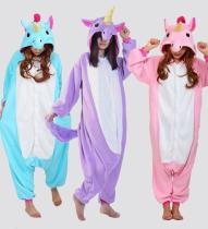 Unicorn Tenma  Pajamas Animal Cosplay Costume Unisex Onesie Sleepwear