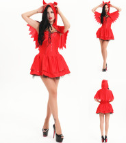 C3014=4958hot red hood halloween dress