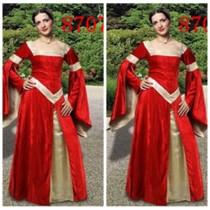 lqz8707 Medieval long gown
