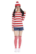 9231 wherewally costume hat tshirt gloves stocking4202