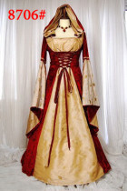 8706 leopard  LADIES MAID MARION TUDOR MEDIEVAL FANCY DRESS COSTUME