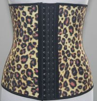 latex waist cinchers leopard
