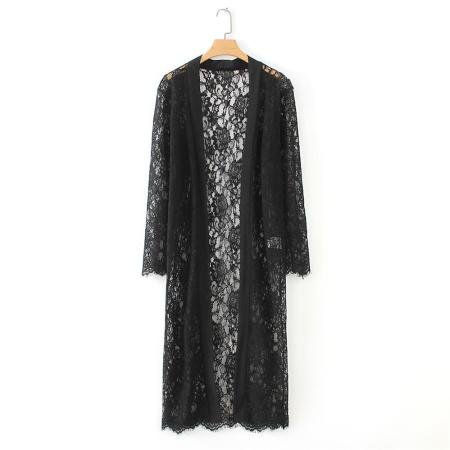8707  Autumn New Women lace  Kimono Beach Lace Loose Cardigan ecowalson