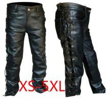 men's leather pants locomotive punk style pants for men Fashion winter mens clothes pantalon homme plus size mens clothing