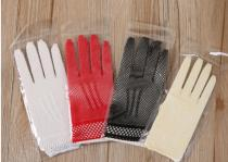 G2020004 short pure color mesh gloves