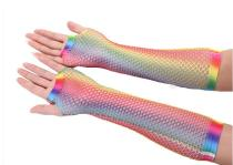 G2020005  colorful mesh gloves