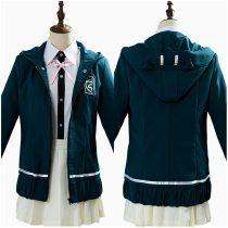 Super DanganRonpa Dangan Ronpa Cosplay Chiaki Nanami Uniforms Costume Female Girl Jacket Shirt Skirt for Halloween Carnival