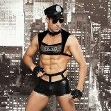 Men Sexy Costumes Hot Erotic Sexy Police Officer Cosplay Costume Fancy Cops Dress Men Halloween Costume Police Uniforms