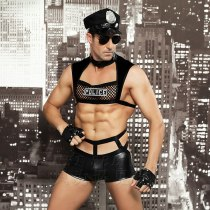 Men Sexy Costumes Hot Erotic Sexy Police Officer Cosplay Costume Fancy Cops Dress Men Halloween Costume Police Uniforms