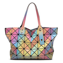 Luminous Colorful PU Handbag for Ladies