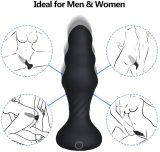 Cob Thrusting Anal Vibrator, Vibrating Anal Sex Toy with 7 Powerful Back Forth Thrusting Patterns Thruster for Anal Sex