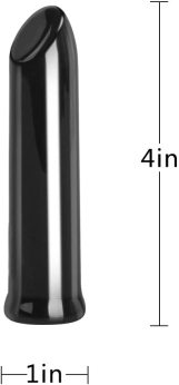 Cob Rechargeable Lipstick Mini Clitoral Vibrator with 10 Speed Vibrations Bullet Vibrator G Spot Simulator Sex Toy (Black)