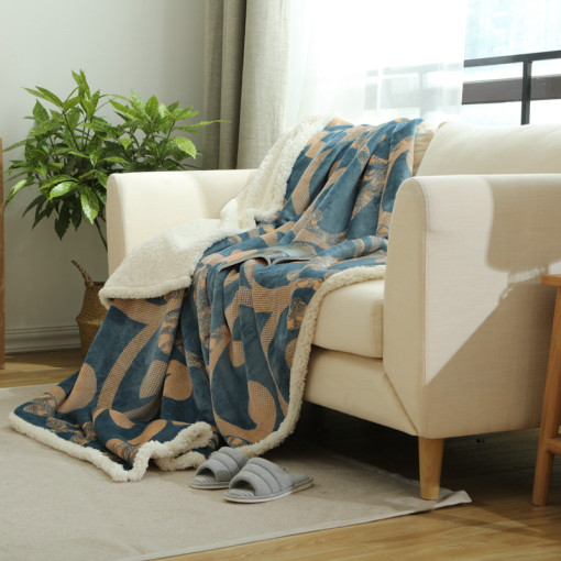 Fashion Double Layer Fleece Blanket Winter Warm Blanket On The Bed Soft Sofa  Throw Blanket