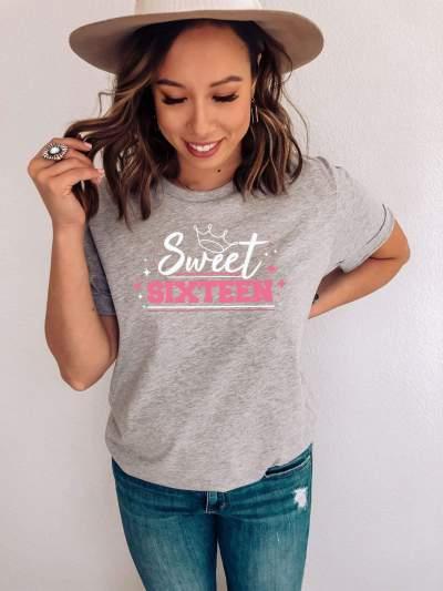 Sweet Sixteen Shirt 16th Birthday Girl T-Shirts