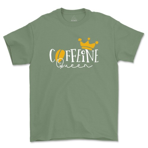 Caffeine Queen Shirt Coffee Lover Mom Tshirts Gift For Her